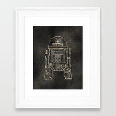 R2D2 Framed Art Print
