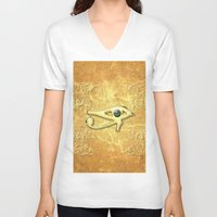 all seeing eye V-neck T-shirts featuring The all seeing eye by nicky2342