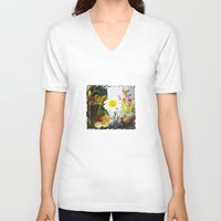 daisies V-neck T-shirts featuring daisies by bsvc