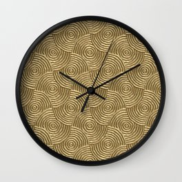 Golden glamour metal swirly surface Wall Clock