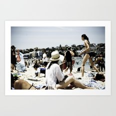 Bondi Beach people Art Print
