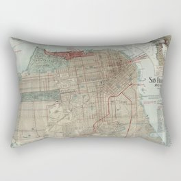 Vintage Map of San Francisco CA (1914) Rectangular Pillow