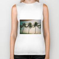 bali Biker Tanks featuring La Luciola palms, Bali, Indonesia  by Kim Barton