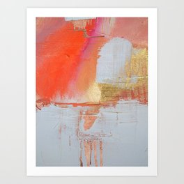 Insight: a minimal, abstract painting in reds and golds by Alyssa Hamilton Art Art Print