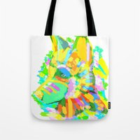 howl Tote Bags featuring Howl by Nedblr