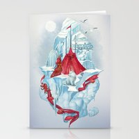 ice Stationery Cards featuring ice  by Tanya_tk