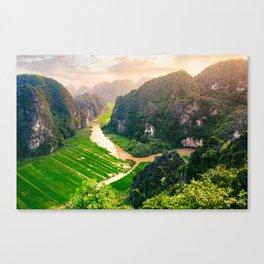Vietnam Paddy Fields Fine Art Print  • Travel Photography • Wall Art Canvas Print