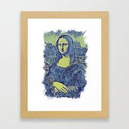 Mona Lisa Smile / La Gioconda / Leonardo Da Vinci / Abstract Fan Art #02 Framed Art Print