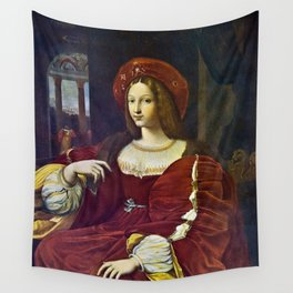 Joanna of Aragon by Raphael Wall Tapestry