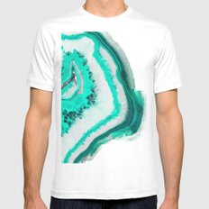 Mint Agate White MEDIUM Mens Fitted Tee