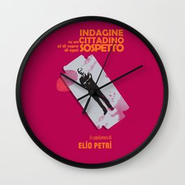 Indagine su un cittadino al di sopra di ogni sospetto, movie poster, Elio Petri, italian cinema Wall Clock