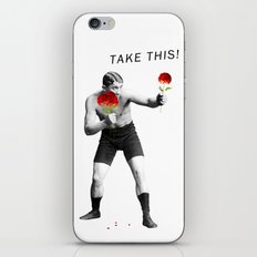 Floral fight - humor iPhone & iPod Skin