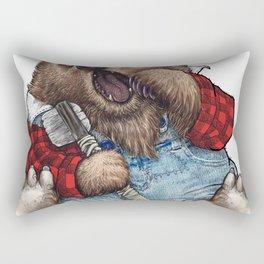 Sleepy LumberJack Bear Rectangular Pillow