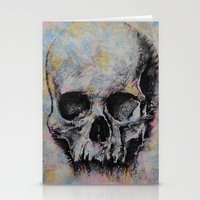 medieval Stationery Cards featuring Medieval Skull by Michael Creese