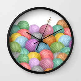 So Much Yarn Wall Clock