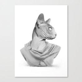 Sphynx portrait sculpture Canvas Print