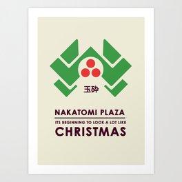 Nakitomi Plaza - Action movie Christmas Art Print