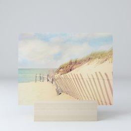 Sand Fence to the Beach Mini Art Print