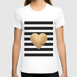 GOLD HEART PRINT, Heart Print,Heart Sign,Heart Decor,Gold Print,Gold Foil,Love Word,Love Quote,Love T-shirt