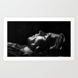 Do you have a dream? - Vintage black and white Art Print