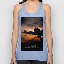 inspired by the world II Unisex Tank Top