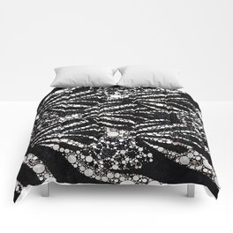 Black&Silver Abstract Bling Pattern  Comforters