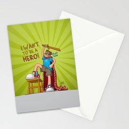 Hero Boy Stationery Cards