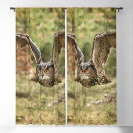 Eagle Owl In Flight Blackout Curtain