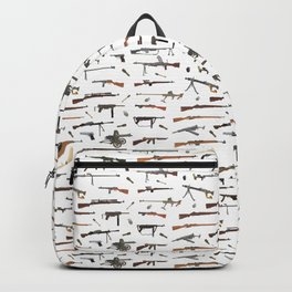 WW2 Weapons Pattern Backpack