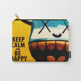 KAWS - Keep Calm and Be Happy Carry-All Pouch