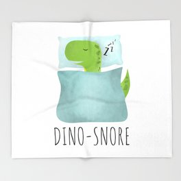 Dino-Snore Throw Blanket
