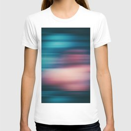 Abstract background blur motion blue police T-shirt