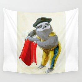 Sloths Are Bad At Things- Mario Lanza the Matador! Wall Tapestry