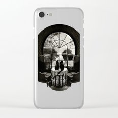 Room Skull B&W Clear iPhone Case