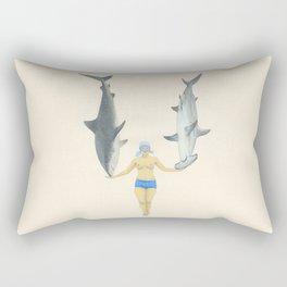 The Shark Charmer Rectangular Pillow