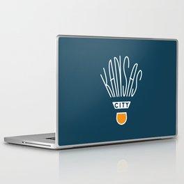Kansas City Shuttlecock Type - White Laptop & iPad Skin