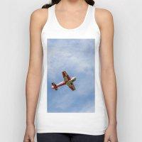 airplane Tank Tops featuring Airplane by Fernando Derkoski