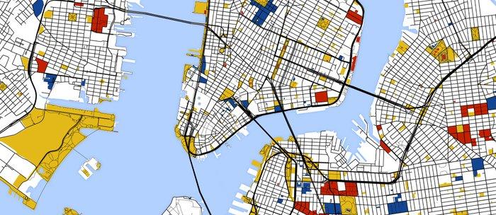 Street Map Of New York.New York City Map Art Print Street Map Art Coffee Mug By