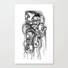 Bobblehead sketch Canvas Print