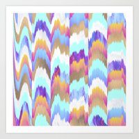 glitch Art Prints featuring Glitch by Elisabeth Fredriksson