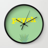 psych Wall Clocks featuring Psych! by Mars