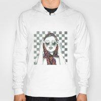 polka dot Hoodies featuring Vintage Polka Dot Beauty  by Lucy Schmidt Art