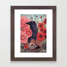 Crow Effigy Framed Art Print