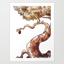 Red and Crooked Art Print
