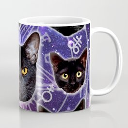 Satanic Cat Dark Gothic Black Kitty satan 666 death metal Coffee Mug