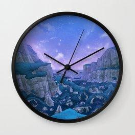 Stone Circle Evening Valley Sky Wall Clock