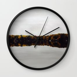 Existing on Glass Wall Clock
