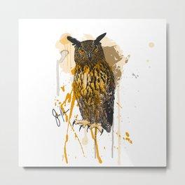 Brutus Eurasian Eagle Owl Metal Print