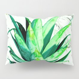 Pineapple Top Black and White Marble Pillow Sham