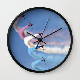 Soft pastels on a blue sky Wall Clock